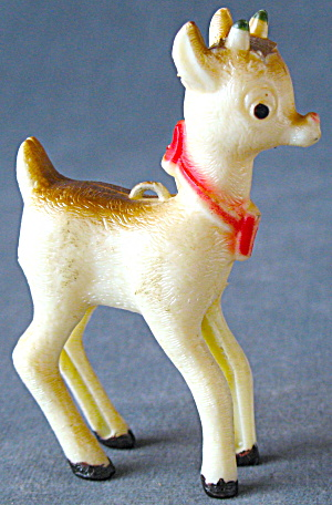 Vintage Plastic Rudolph The Red Nose Reindeer