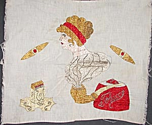 Vintage Embroidered Cigar Lady (Image1)