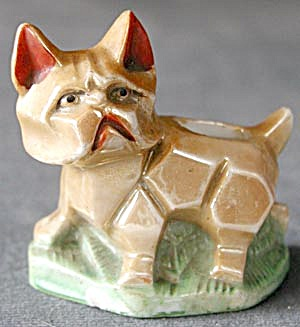 Vintage Deco Dog Luster Ware Pin Cushion (Image1)