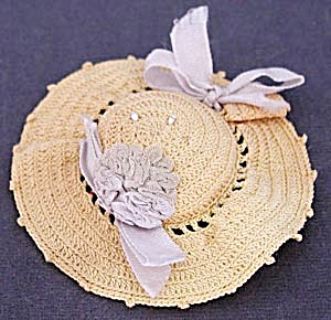 Vintage Tatted Hat Pincushion