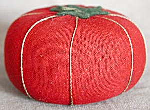 Vintage Fabric Tomato Pin Cushion