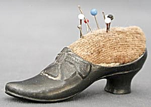 Antique Ladies Shoe Pin Cushion (Image1)
