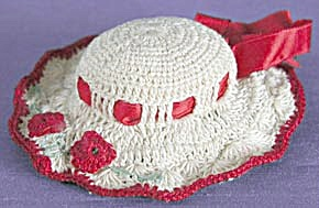 Vintage Cream and Red Hat Pin Cushion (Image1)