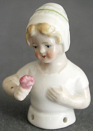 Vintage German Small Half Doll Pin Cushion (Image1)