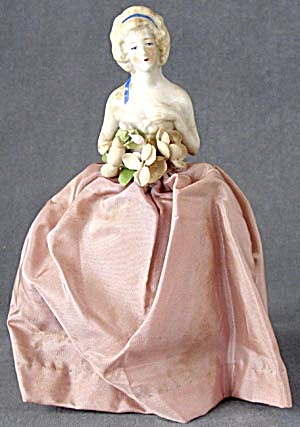Vintage  Half Doll Pin Cushion in Gown (Image1)