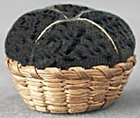 Vintage Miniature Basket Pin Cushion