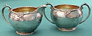 Vintage Silver Plate Sugar & Creamer (Image1)