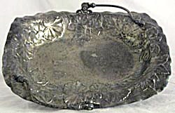 Antique Silver Plated Ivy Basket (Image1)