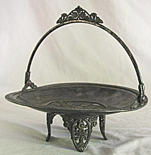 Antique Silver Plated Cherry Cake or Card Basket (Image1)