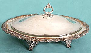 Reed & Barton Silver Plated Covered Serving Dish