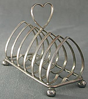 Antique Old English Plate Heart Shaped Toast Rack (Image1)