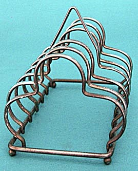 Antique Old English Plate Clover Shaped Toast Rack