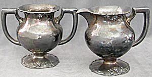 Antique Silverplate Creamer and Sugar (Image1)