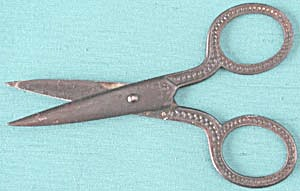 Vintage Metal Child's School Scissors (Image1)
