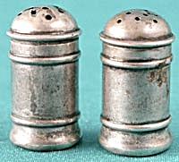 "Vintage R W & S Sterling 1 1/2"" Salt & Pepper Shak (Image1)"