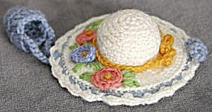 Vintage Hat Pincushion and Thimble Holder (Image1)