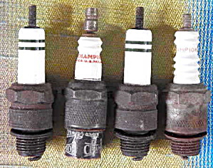 Vintage  Spark Plugs Set Of 4