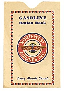 Vintage Gasoline Ration Envelope For Airlines
