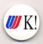 United Airlines United Kingdom Pinback