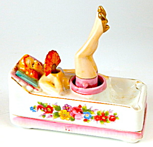 Vintage Nodder Lady Ashtray