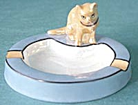 Vintage Luster Cat Ashtray (Image1)