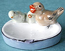 Vintage Luster Bird & Babies Ashtray (Image1)