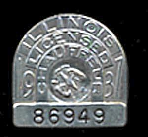 Vintage 1937 Chauffeur Badge (Image1)