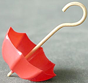 Vintage Celluloid Miniature Umbrella (Image1)