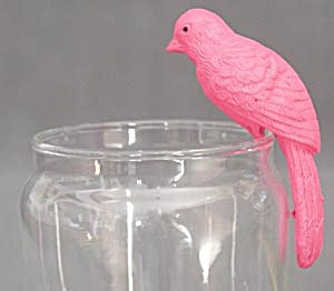 Vintage Celluloid Pink Parrot Swinging Toy (Image1)