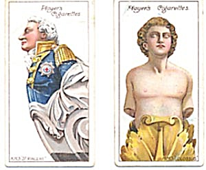 Ships Figureheads Player's Cigarette Cards