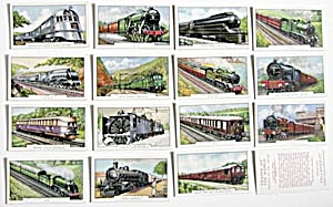 Trains of the World Cigarette Cards (Image1)