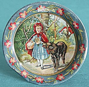 Vintage Tin Little Red Riding Hood Child's Plate