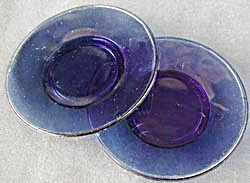 Vintage Blue Glass Doll Plates (Image1)