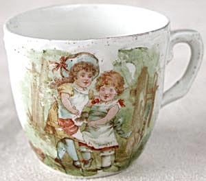 Vintage Child's Cup With Children