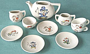 Vintage Circus Doll Tea Set