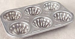 Vintage Child Aluminum Toy Fluted Muffin Pan (Image1)