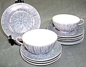 Vintage Blue Luster Child's Dishes  (Image1)