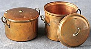 Vintage Doll Copper Pots (Image1)