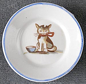 Vintage Cat Doll Plate