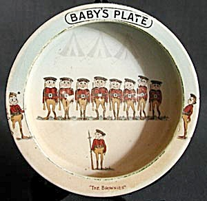 Antique Brownie's Baby Plate