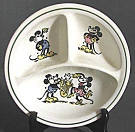 Vintage Mickey Mouse 3 Sectional Bowl (Image1)