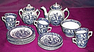 Antique Staffordshire May Childs Set of Dishes (Image1)