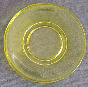 Vintage Akro Agate Stippled Band Child's Plate