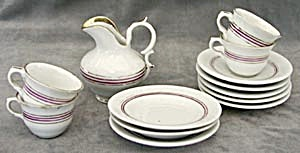 Antique Child's Set Of Dishes