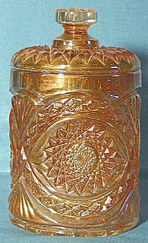 Vintage Marigold Carnival Glass Humidor (Image1)