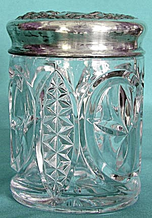 Vintage Pressed Glass Humidor (Image1)