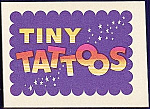 Cracker Jack Toy Prize: Tiny Tattoos Purple (Image1)