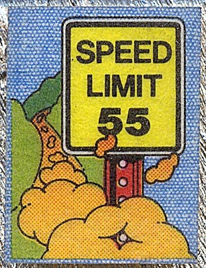 Cracker Jack Toy Prize: Mini Iron-Onics Speed Limit (Image1)