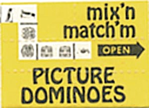 Cracker Jack Toy: Mix'n & Match'm Picture Dominoes #4
