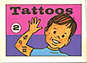 Cracker Jack Toy Prize: Tattoos 2